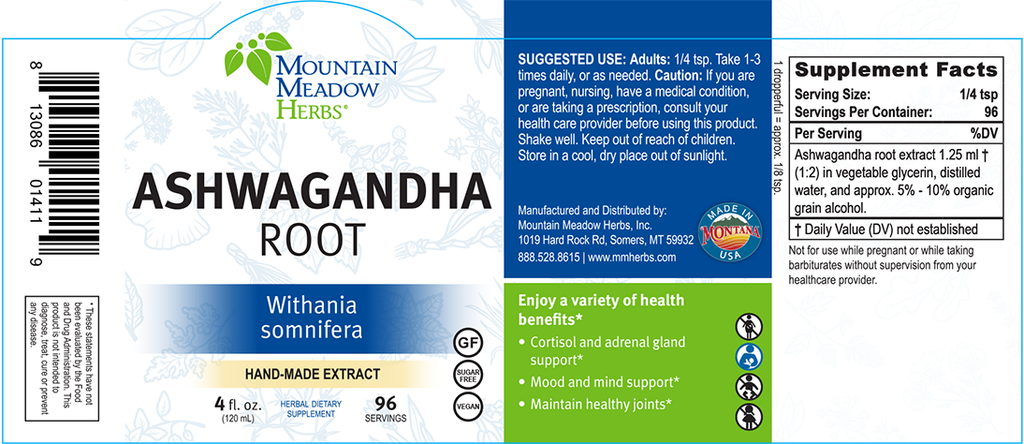 Ashwagandha Root Extract (4 oz.)