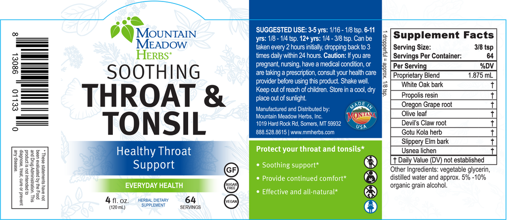Soothing Throat & Tonsil (4 oz.)