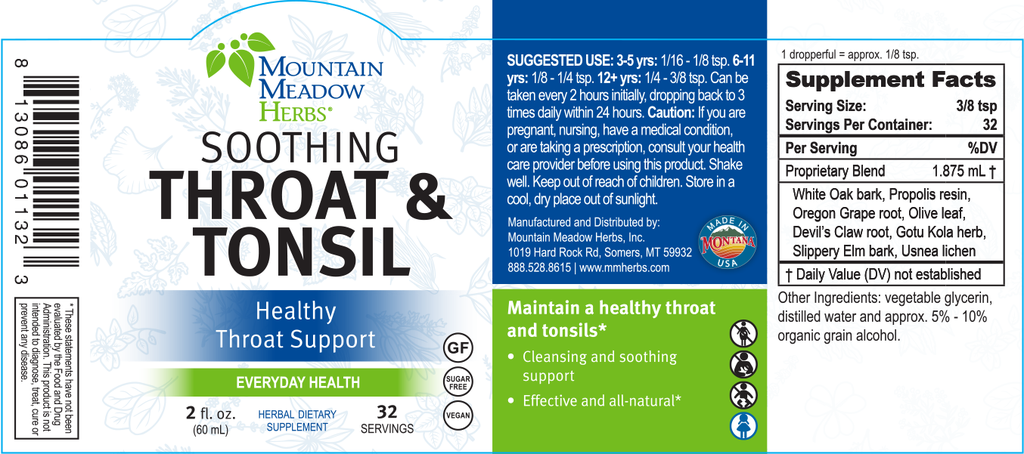 Soothing Throat & Tonsil (2 oz.)